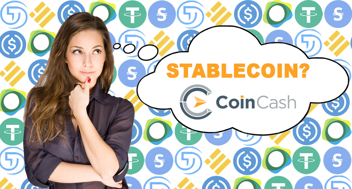 Girl with stablecoins.